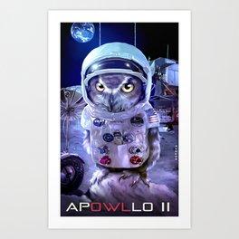 moon landing: APOWLLO 11 Art Print