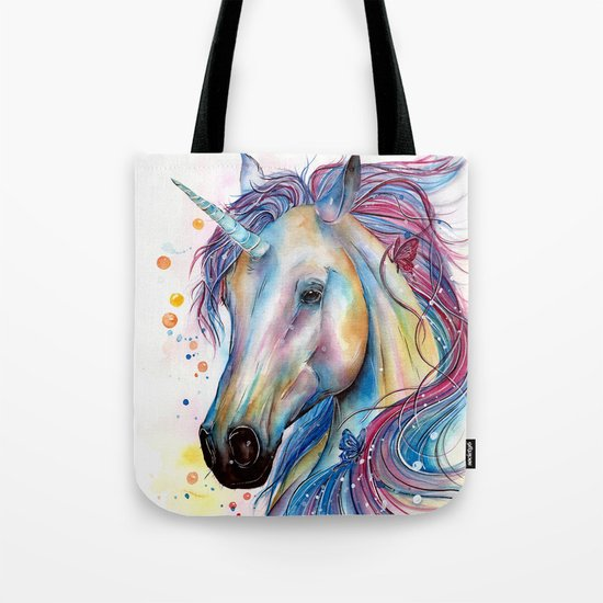 Whimsical Unicorn Tote Bag