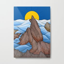 The rocky sea cliffs Metal Print