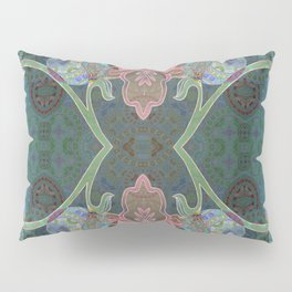 Elegant Detailed Orchid Meditation Pattern Pillow Sham