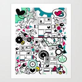 CUTE ROBOTS Art Print