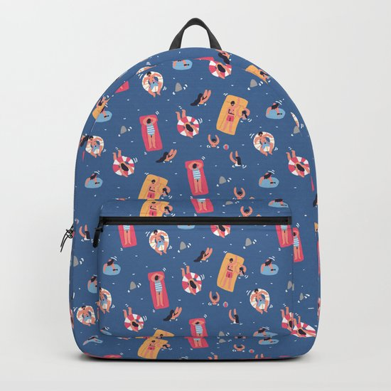 Having a Great Time on the Beach Backpack