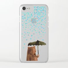 Rain rain go away Clear iPhone Case