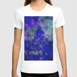Bright Blue Watercolor Abstract T-shirt