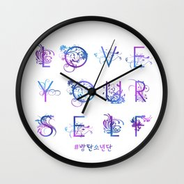 Kpop BTS: LOVE YOURSELF! Wall Clock
