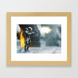 Fire Fight Framed Art Print