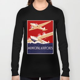 City of New York Airports Travel Long Sleeve T-shirt