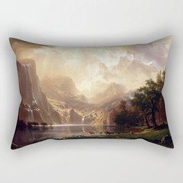Albert Bierstadt - Among the Sierra Nevada, California Rectangular Pillow