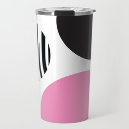 Pink zebra Travel Mug