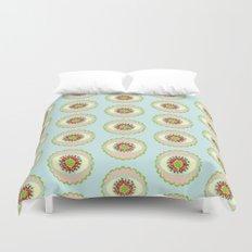 Petals and Lace - Sky Mini Duvet Cover