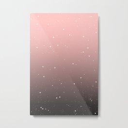 Keep On Shining - Pink Mist Metal Print