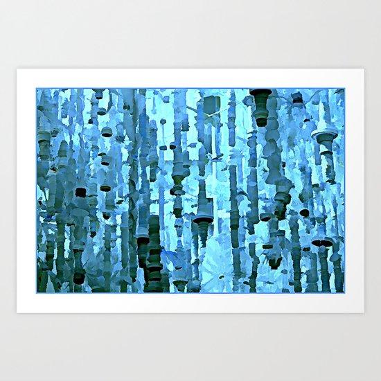Blue Grotto Art Print