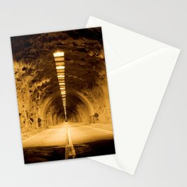 Late Hike Through Yosemite Tunnel Stationery Cards