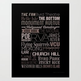 Richmond Type  Art Print