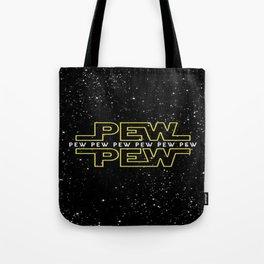 Pew Pew Stars Wars Tote Bag