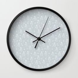 grey snowman Wall Clock