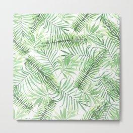 Tropical Branches Pattern 04 Metal Print