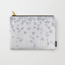 Soft Purple Trailing Ivy Leaf Print Carry-All Pouch