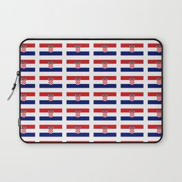 Flag of croatia 2 -croatian, Hrvatska,croat,croacia,Zagreb,split,rijeka,osijek. Laptop Sleeve