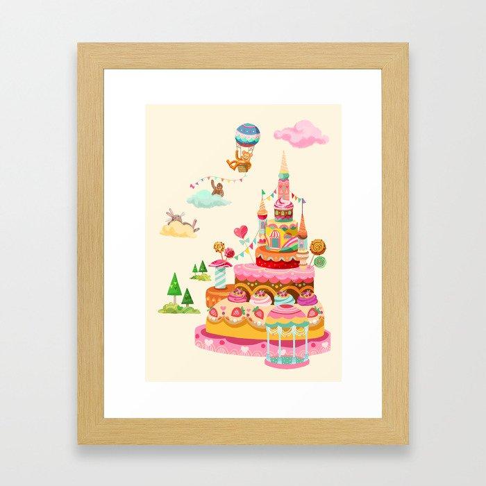 Ice Cream Castles In The Air Framed Art Print