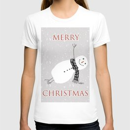 Snowman Yoga - Side Planck T-shirt