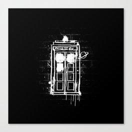 Time Lord Graffiti  Canvas Print