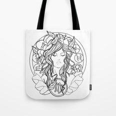 Zodiac Series   Virgo Tote Bag
