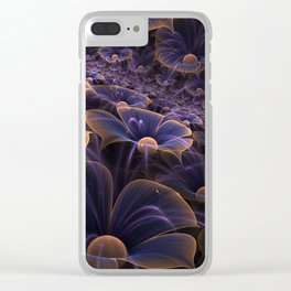 Wally Flowers Invisible Purple Clear iPhone Case