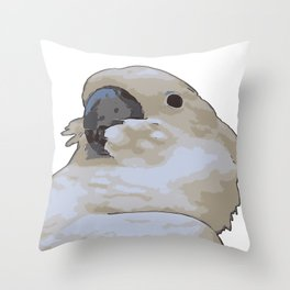Chubby Blue Eyed Cockatoo Cacatua Ophthalmica Throw Pillow