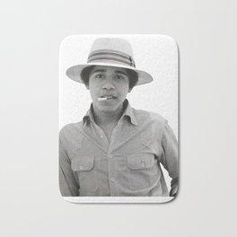 Barack Obama Pose Smoked Bath Mat