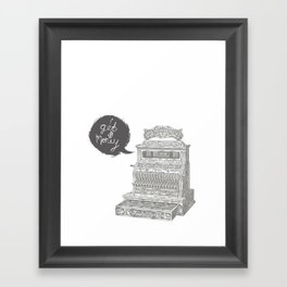 cash register Framed Art Print