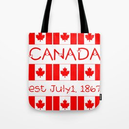 Canada Day Maple Leaf Pattern Canadian Flag Tote Bag