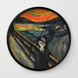 The Silence - When The Doctor Meets Munch Wall Clock