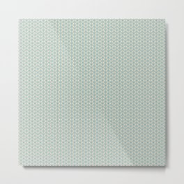 Delicate Pastel Mint green miniature pattern Metal Print