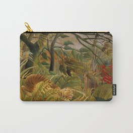 "Henri Rousseau ""Tiger in a Tropical Storm (Surprised!)"", 1891 Carry-All Pouch"