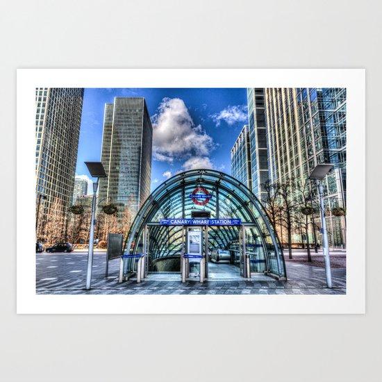 Canary Wharf Station Art Print