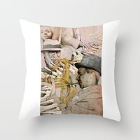 jazz Throw Pillows featuring JAZZ by Andreas Derebucha