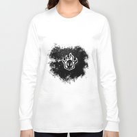 bleach Long Sleeve T-shirts featuring Bleach BW 2 by Bradley Bailey