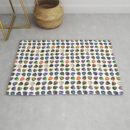 Guitar Picks Watercolor Rug