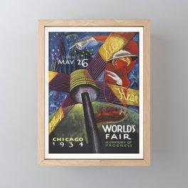 Chicago World's Fair Poster, 1934 Artowrk for Wall Art, Posters, Prints, Tshirts, Men, Women, Kids Framed Mini Art Print