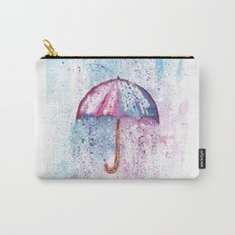 Umbrella Watercolor Painting Carry-All Pouch