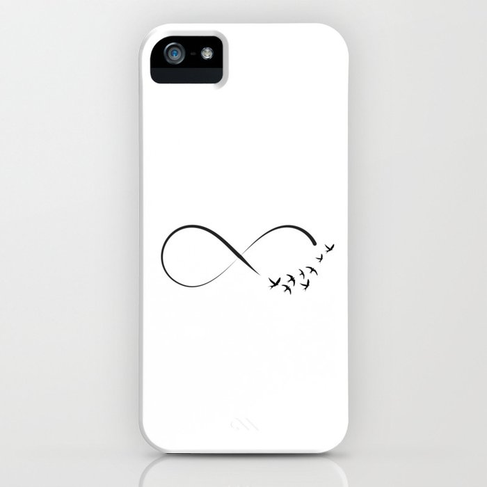 Freedom infinity symbol with swallows iPhone Case