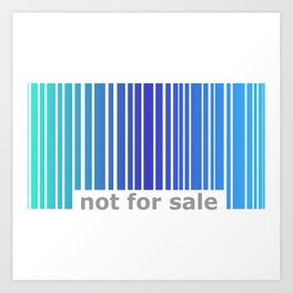 Not For Sale Barcode - Blues Art Print