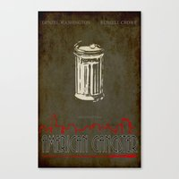 gangster Canvas Prints featuring American gangster by Christophe Chiozzi
