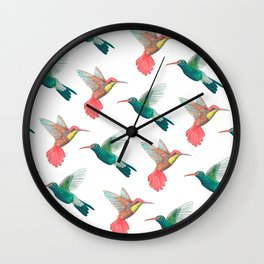 Colibries Wall Clock