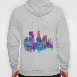 indianapolis city skyline watercolor 4 Hoody