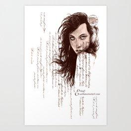 French Paper Art Print