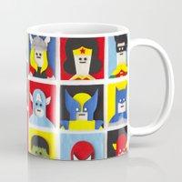 heroes Mugs featuring Felt Heroes by Jacopo Rosati