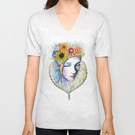 Flowers in my Mind Unisex V-Neck