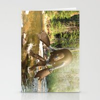 sasquatch Stationery Cards featuring Robot Sasquatch by David Slebodnick